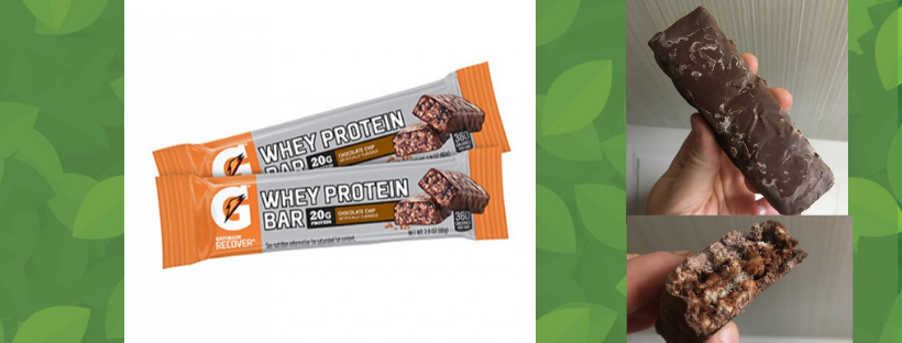 Gatorade Recover Weigh Protein energy bar snaktak review nutrition