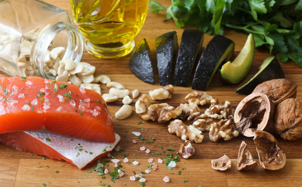 salmon avocado nuts walnuts cashews anti-inflammatory food